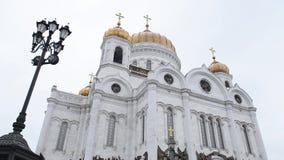 Moscou, Russie Le Christ la cathédrale de sauveur clips vidéos