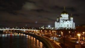 Moscou, Russie Le Christ la cathédrale de sauveur banque de vidéos
