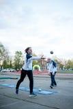 MOSCOU, RUSSIE - 13 MAI : Championnat de progressif de Bocce le 13 mai 2017 dans le stade d'Iskra, Moscou, Russie Photographie stock libre de droits
