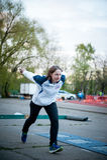 MOSCOU, RUSSIE - 13 MAI : Championnat de progressif de Bocce le 13 mai 2017 dans le stade d'Iskra, Moscou, Russie Images libres de droits