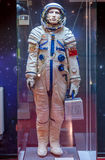MOSCOU, RUSSIE - 31 MAI 2016 : Combinaison spatiale russe d'astronaute dans le musée d'espace Images stock