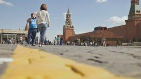 MOSCOU, RUSSIE - 19 MAI 2017 : Place rouge à Moscou, Fédération de Russie Point de repère national Destination de touristes image stock