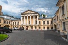 Moscou, Russie - 12 mai 2019 Vieux manoir de Soymonov sur la rue de Malaya Dmitrovka vue photographie stock libre de droits