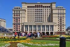 Moscou, Russie - 12 mai 2018 Vue de la place de Manege à l'hôtel quatre saisons photos stock