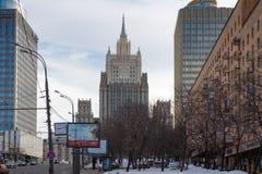 Moscou, Russie - 25 mars 2018 : Bâtiment du Ministère des Affaires Étrangères de la Fédération de Russie sur le boulevard de Smol photo stock