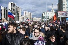 Moscou, Russie, - 10 mars 2019 Liberté d'Internet de demande de rassemblement en Russie photos libres de droits