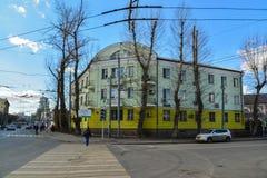 Moscou, Russie - 14 mars 2016 Rue et Pereulok Basmanny de Novoryazanskaya de carrefours Photographie stock libre de droits