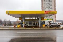 MOSCOU, RUSSIE - 23 mars 2017 : Station service de Rosneft photos libres de droits