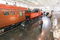 MOSCOU, RUSSIE - 11 mars 2017 Vieux musée de train du chemin de fer de Moscou Photo libre de droits