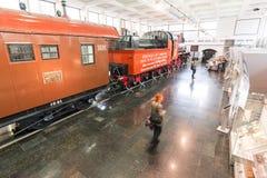 MOSCOU, RUSSIE - 11 mars 2017 Vieux musée de train du chemin de fer de Moscou Photo stock