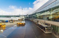 MOSCOU, RUSSIE - 29 mars 2017 Zone technique dans l'aéroport du terminal D Sheremetyevo Photos libres de droits