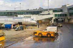 MOSCOU, RUSSIE - 29 mars 2017 Zone technique dans l'aéroport du terminal D Sheremetyevo Photographie stock