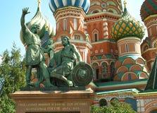 moscou Russie Monument à Minin et à Pozharsky Photo libre de droits