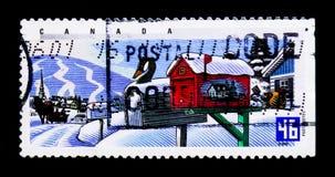 MOSCOU, RUSSIE - 24 NOVEMBRE 2017 : Un timbre imprimé dans le Canada SH Images stock