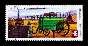 MOSCOU, RUSSIE - 24 NOVEMBRE 2017 : Un timbre imprimé dans le Canada SH Image libre de droits