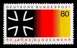 MOSCOU, RUSSIE - 3 OCTOBRE 2017 : Un timbre imprimé en Allemagne Fed Photo libre de droits