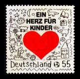 MOSCOU, RUSSIE - 21 OCTOBRE 2017 : Un timbre imprimé en allemand Fed Photographie stock libre de droits
