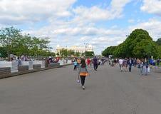 MOSCOU, RUSSIE - 26 06 2015 Parc de Gorki - central Photographie stock libre de droits