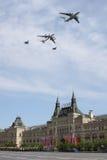 Moscou, Russie - peuvent 09, 2008 : célébration de défilé de Victory Day WWII sur la place rouge Passage solennel d'équipement mi Image stock