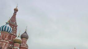 Moscou, Russie, place rouge, vue de cathédrale du ` s de St Basil banque de vidéos