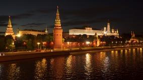 Moscou, Russie Remblai de Kremlin banque de vidéos