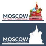 moscou Russie Rue Cathédrale du `s de basilic Photographie stock libre de droits