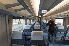 Moscou, Russie -05 11 2015 Striz - train de vitesse de Moscou vers Nijni-Novgorod Images libres de droits