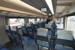 Moscou, Russie -05 11 2015 Striz - train de vitesse de Moscou vers Nijni-Novgorod Photo stock