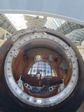 MOSCOU, RUSSIE - 05 07 2018 : Vaisseau spatial, unités et équipement de la Russie dans le musée d'espace image libre de droits