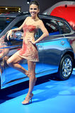 MOSCOU - 29 08 2014 - Salão de beleza internacional do automóvel de Moscou da exposição do automóvel Foto de Stock Royalty Free