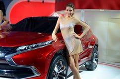 MOSCOU - 29 08 2014 - Salão de beleza internacional do automóvel de Moscou da exposição do automóvel Fotografia de Stock