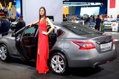 MOSCOU - 29 08 2014 - Salão de beleza internacional do automóvel de Moscou da exposição do automóvel Fotos de Stock Royalty Free