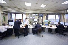 Expéditeurs dans l'aéroport de Sheremetyevo Image stock