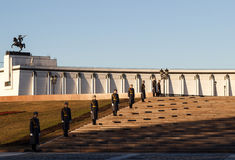 Moscou, soldats du régiment de Kremlin Photo stock