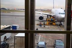 MOSCOU - VERS EN NOVEMBRE 2017 : Aéroport de Sheremetyevo Image libre de droits