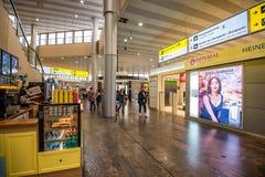 MOSCOU - VERS EN NOVEMBRE 2017 : Intérieur d'aéroport de Sheremetyevo Images libres de droits
