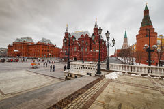 Moscou, vue de la place rouge Photos stock