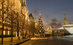 Moscovo, árvore de Natal Fotografia de Stock Royalty Free