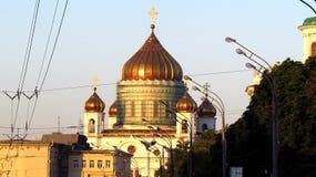 Moscovo, catedral de Christ o salvador foto de stock