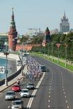 Quadrado vermelho do passeio da bicicleta da caridade Imagem de Stock Royalty Free