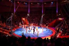 MOSCOVO - JUNHO 5 - arena no circo de Moscovo Nikulin Fotos de Stock