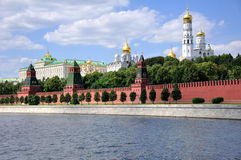 A Moscovo Kremlin. Fotos de Stock Royalty Free