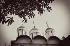 Moscovo Kremlin Foto do sepia do estilo do vintage imagens de stock