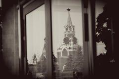 Moscovo Kremlin Foto do sepia do estilo do vintage fotografia de stock royalty free