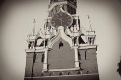 Moscovo Kremlin Foto do sepia do estilo do vintage foto de stock royalty free