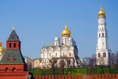 Moscovo Kremlin Local do património mundial do Unesco Fotografia de Stock Royalty Free