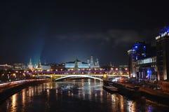 Moscovo Kremlin na noite Imagem de Stock Royalty Free