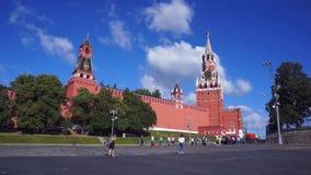 Moscovo kremlin no dia ensolarado R?ssia, quadrado vermelho video estoque