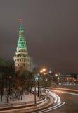 Moscovo Kremlin no inverno Fotos de Stock Royalty Free