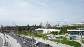 Moscovo Kremlin Parque de Zaryadye Rússia Imagem de Stock